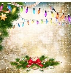 Christmas bells Background EPS 10 vector image