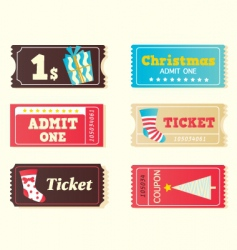 Christmas tickets vector image vector image