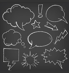 Comic Speech Bubbles with chalk effect vector image vector image