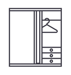 dressing room line icon sign vector image vector image