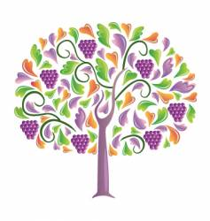 grapes tree vector image vector image