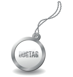 metal dog tag vector image vector image