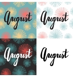 Set of 4 cards with summer quote vector