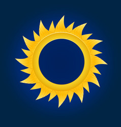the sun circle on blue sky background vector image