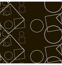 Black geometric contrast vector image vector image