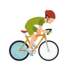 cyclist man riding sport bike vector image vector image
