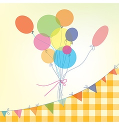 Holiday background with balloons bunting flags and vector image