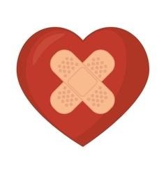symbol medical heart plaster vector image