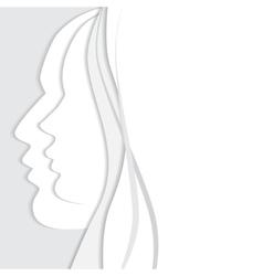 beautiful man and woman profiles vector image vector image