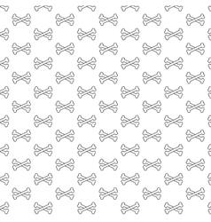 Bones pattern black and white vector image