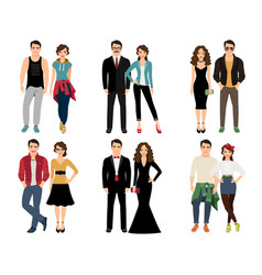 casual vogue couple vector image vector image