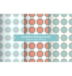 Ethnic oriental geometric seamless patterns vector image vector image