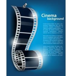 Film reel on blue background vector image