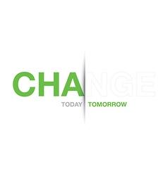 green change background vector image