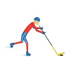 hockey player 02 vector image vector image