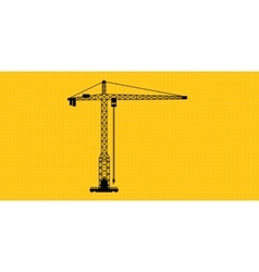 tower crane site construction isolated silhouette vector image