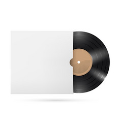 vinyl records on white background for creative vector image vector image