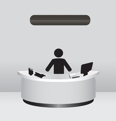 Administrator Receptionist vector image vector image