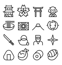 basic japan icon symbol in thin line style vector image