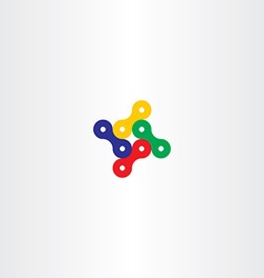 bicycle chain icon logo element vector image vector image