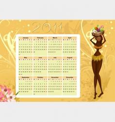 calendar of native vector image vector image
