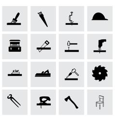 carpentry icon set vector image vector image
