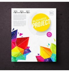 Colorful geometric business report design template vector image vector image