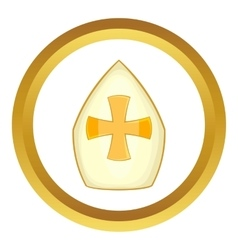 Pope hat icon vector image