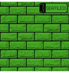 Realistic seamless texture of green brick wall vector image vector image