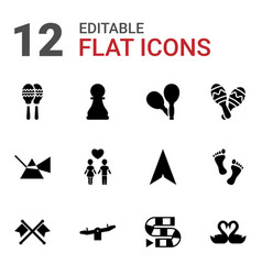 12 two icons vector