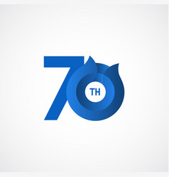 70 th anniversary celebrations template design vector