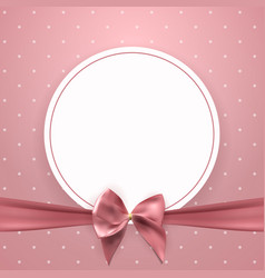 abstract vintage frame with bow and ribbon vector image