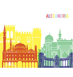 alexandria skyline pop vector image