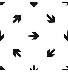 arrow pattern seamless black vector image