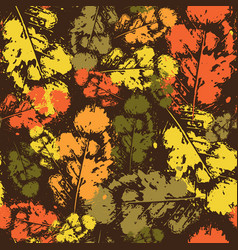 autumn seamless pattern background leaves ornament vector image