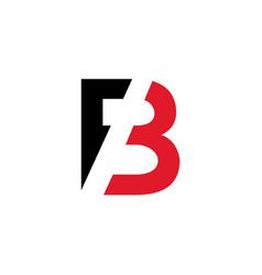 b letter logo architecture emblem vector image