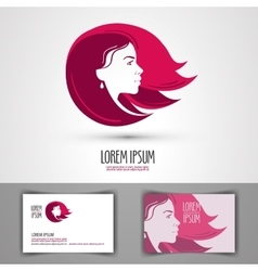 Barbershop logo design template beauty vector