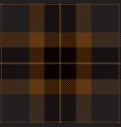 Blue and brown tartan plaid seamless pattern vector