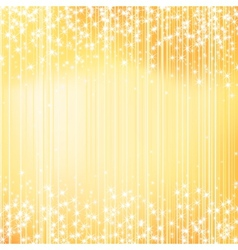 Bright golden holiday background with stars vector image