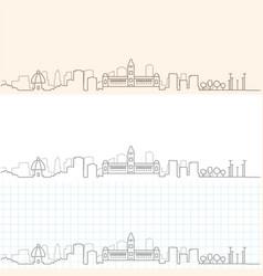 Chennai hand drawn skyline vector