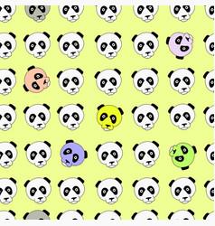 Color panda head china design vector