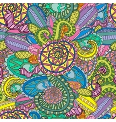 Colorful decorative seamless hand drawn doodle vector image