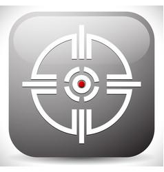 Crosshair reticle target mark icon vector