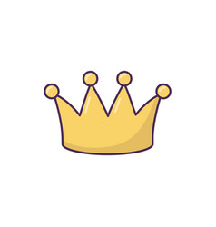 Crown royalty monarchy icon on white background vector