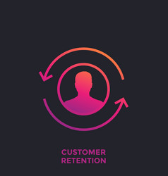 Customer retention returning client icon vector