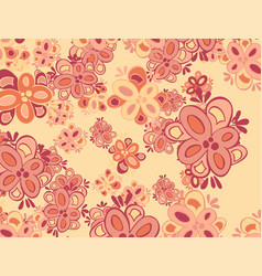Decorative floral background with flowers peony vector
