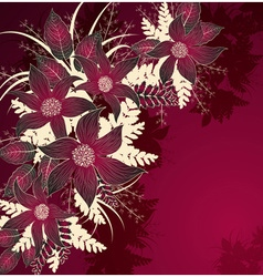 Decorative Red Floral Background vector image