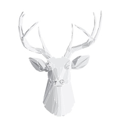 Deer head on white background 2 vector image