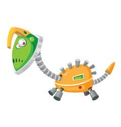 Dinorobot mechanical vector
