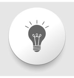 Electric lamp icon vector image